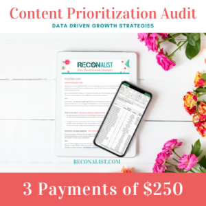 Payment Plan for Content Audit